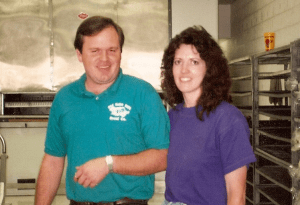 Curtis & Charlene after the opening of the first Old Grist Mill location.